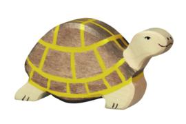 Holztiger bruin schildpad