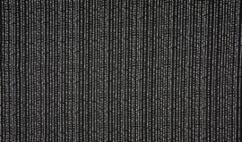 Onregelmatige streep (zwart/ wit) katoen