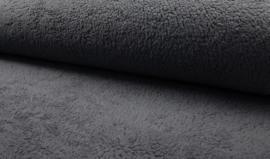 Borgstof/ Teddy katoen dark grey