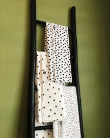 Ledikantlaken poplin dots (wit/ zwart)
