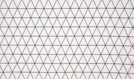 Geometrische driehoek (wit/ zwart)