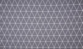 Geometrische driehoek (grijs/ wit)