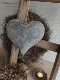 Zinken hart aan stoer touw L