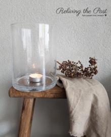Windlicht glas L bubbel