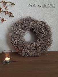 Wortelkrans grijs 40 cm