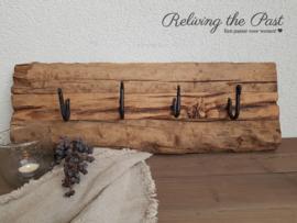 Kapstok oud hout 4 haken