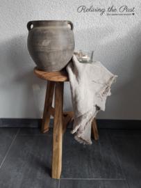 Authentieke houten kruk L 4 (rond)