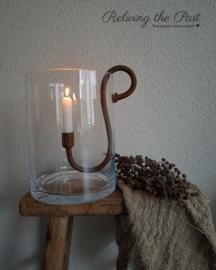 Windlicht glas L