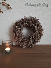 Bonsai takkenkrans bruin 30 cm