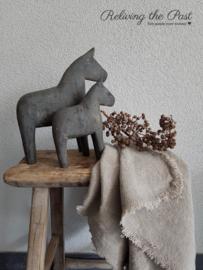 Handgesneden houten paardje L
