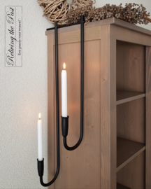 Handgesmede Porte Chandelier dinerkaars 75 cm