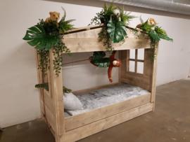 """Huisjesbed Steigerhout """"Jungle bed"""""""