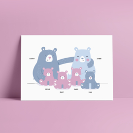 beren familieposter