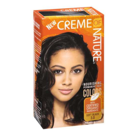 CREME OF NATURE - Nourishing permanent hair color - 3.0 | Soft black