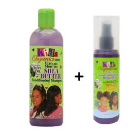 KIDS ORGANICS - Shea butter conditioning shampoo + conditioning detangler