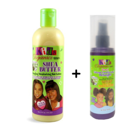 KIDS ORGANICS - Shea Butter Detangling Moisturizing Hair Lotion + conditioning detangler