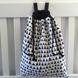 Boxzak zwart&wit|driehoek