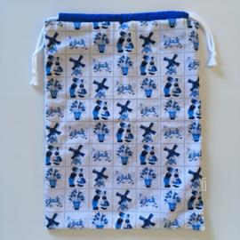 opbergzak - wit&blauw   delftsblauw