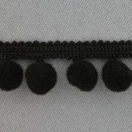 Zwart bolletjesband