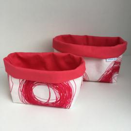 Mandjes wit&roze | cirkels