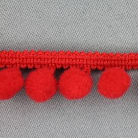 Rood bolletjesband