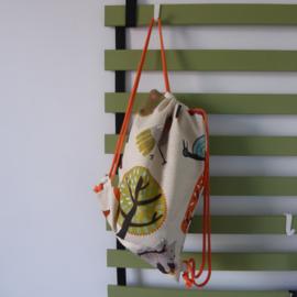 (gym)tas multikleur&oranje|dieren