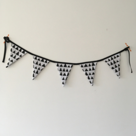Slinger wit&zwart|driehoekjes (S)