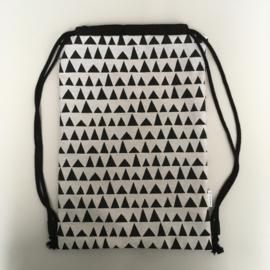 (gym)tas - wit&zwart | driehoek