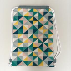 (gym)tas - multikleur&blauw | driehoek