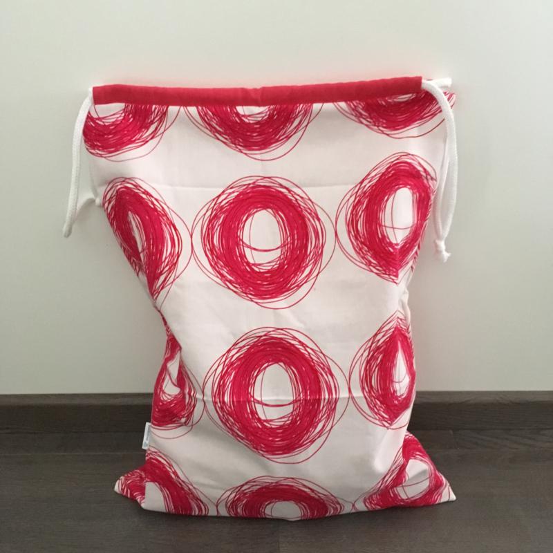 opbergzak - wit&roze | cirkels&roze