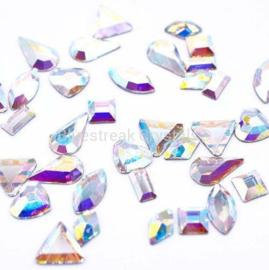 Bluestreak Crystals - Crystal AB Shapes Mix (Preciosa)