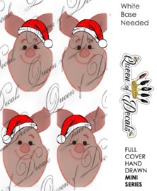 Queen of Decals - Christmas Piglet (Mini Series)