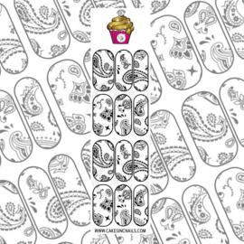 CakesInc.Nails - White Bandana 'NAIL DECALS'