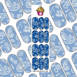CakesInc.Nails - Bleu Bandana 'NAIL DECALS'