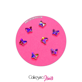 Crystal.Cakey - Butterfly (4mm) 'Aurora Borealis'