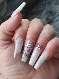 Queen of Decals - 'That' Pink & Grey Floral 'NEW RELEASE'