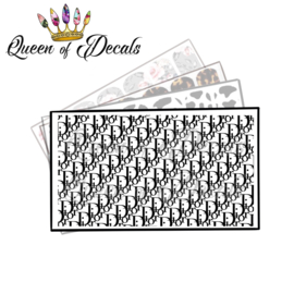Queen of Decals - BLACK DD FULL SHEET 'NEW RELEASE'