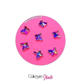 Crystal.Cakey - Butterfly (6mm) 'Aurora Borealis'