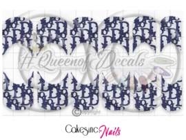 Queen of Decals - Monogram Denim Summer Vibes French 'NEW RELEASE'