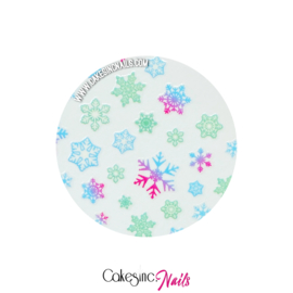 Glitter.Cakey - Glow in The Dark Snowflakes Sticker Sheet