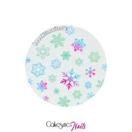 Glitter.Cakey - Glow in The Dark Snowflakes Sticker Sheet