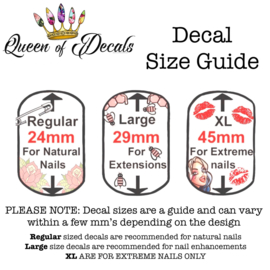 Queen of Decals - Black Ghothic Numbers 'NEW RELEASE'