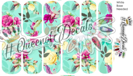 Queen of Decals - Minty Floral (full cover)