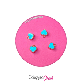 Cakey.Charms - Mini Hearts 'Light Blue' 💖 (NAIL PIERCING)