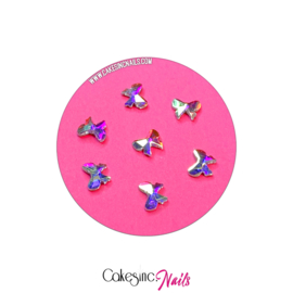 Crystal.Cakey - Bows (5x7mm) 'Aurora Borealis'