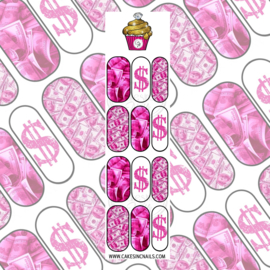 CakesInc.Nails - Pink Money Move$ 'NAIL DECALS'