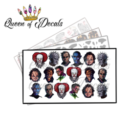 Queen of Decals - Horror faces 1 'NEW RELEASE'