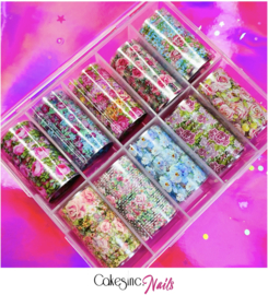 CakesInc.Nails - Transfer Foil Set #007 'English Roses' Negative Space