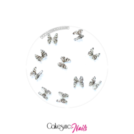 Glitter.Cakey - White & Black 'Butterfly Charms Set'