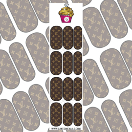 CakesInc.Nails - Brown  V L 'NAIL DECALS